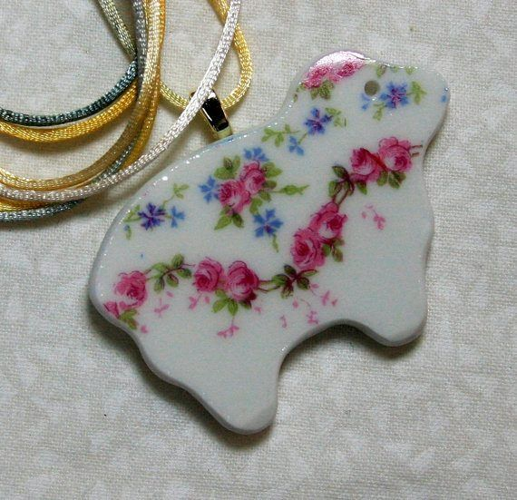Roses China Sheep Pendant with Cord ONLY 5 AVAILABLE