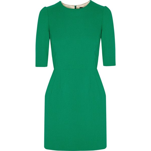 Dolce & Gabbana Wool mini dress ($1,250) ❤ liked on Polyvore featuring dresses, dolce & gabbana, green, day to night dresses, wool mini dress, green dress, woolen dress and short dresses