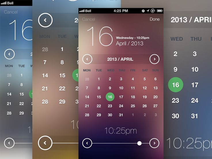 iOS7 Inspired Date & Time Picker