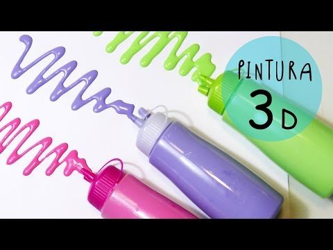 Manualidad para niños: Pinturas 3D con relieve caseras (pinturas inflables o PUFFY PAINT) by ART Tv - YouTube
