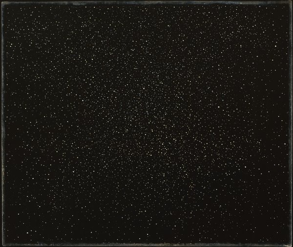 Night Sky #6, 1993  Vija Celmins  Oil on linen mounted on wood
