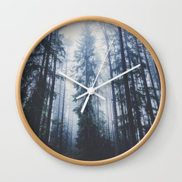 The mighty pines Wall Clock by HappyMelvin. #homedecor #nature #wanderlust #forest #wallclocks
