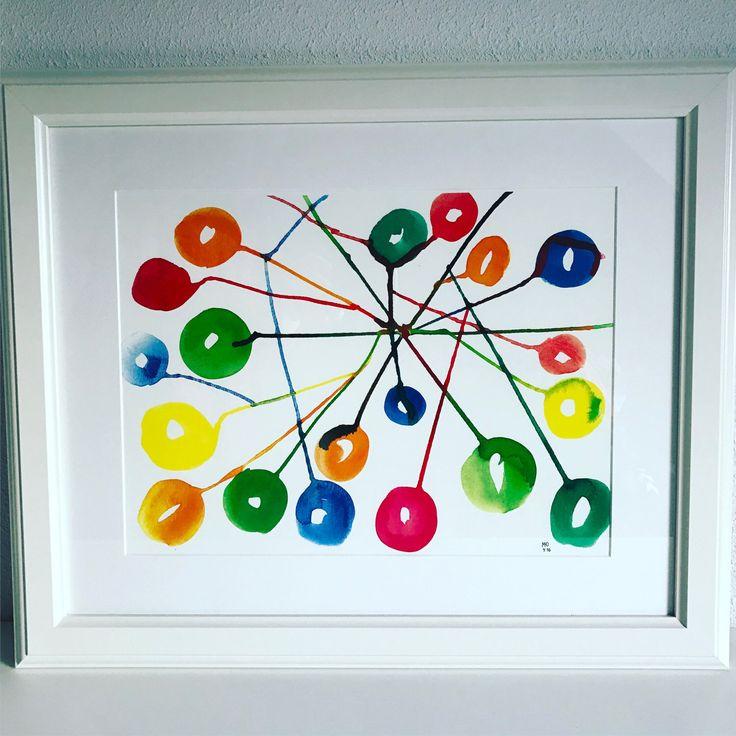Connections...kleurrijke art print van originele illustratie, wall art, poster door CreaSpace op Etsy https://www.etsy.com/nl/listing/501612422/connectionskleurrijke-art-print-van