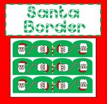 Santa Borders Art work / decoration.