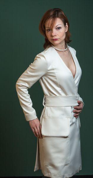 Sommermantel Chloè Elegant Weiß Mantelkleid von rote-tulpe auf DaWanda.com