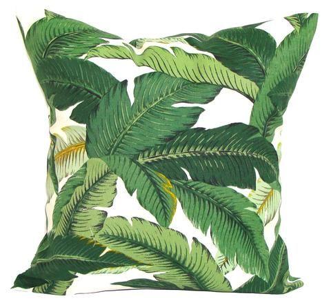 Decorative Pillows, Pillows, Pillow Covers, Throw Pillows, Toss Pillows, Bedding, Custom Pillows, Home Decor - Green Indoor/outdoor Tommy Bahama Palm Leaf