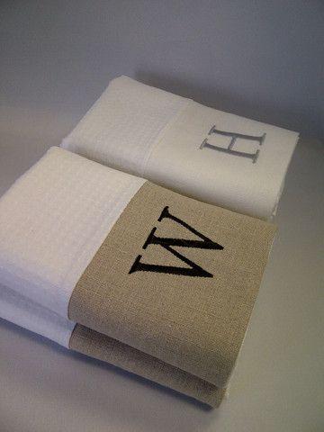 Mono Custom Spa Waffle Hand Towel Set/2