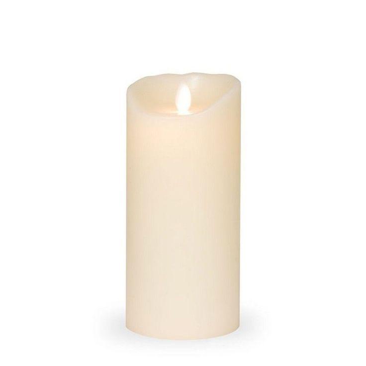 Bougie Flamme Led ivoire 18 cm