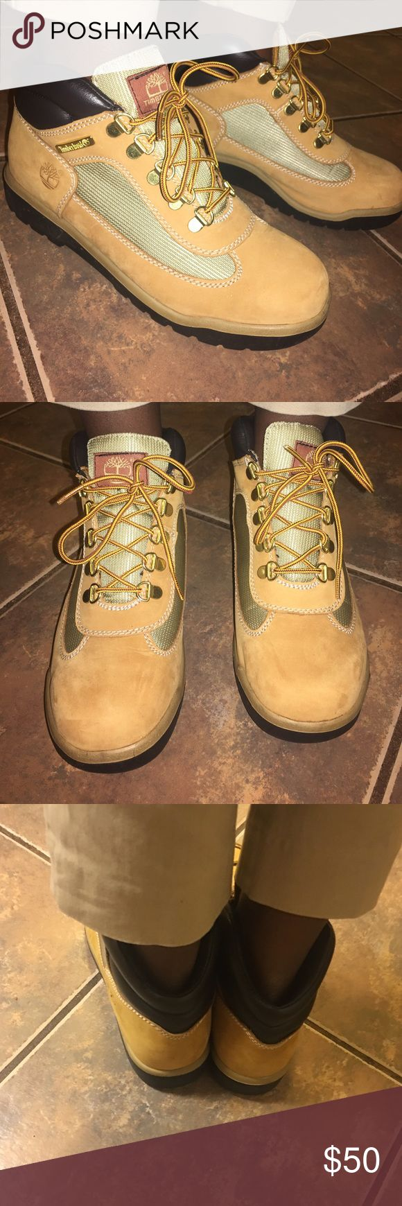 😍Timberland Field Boot 😍 Size 5.5 Kids Timberland Field Boot Size 5.5/W7. Excellent Condition. Comes with box. Make this ☝🏾️treasure yours today ☺️. Don't be scared to make an offer, you never know unless you try. Bundle multiple items for the best savings. Pay one low price for shipping 🎁!   Thanks for stepping into Coco's Closet 😘 Timberland Shoes Boots