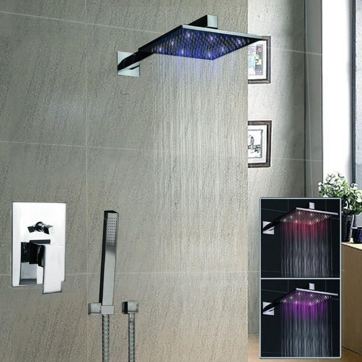 "Luxury 8"" Square Led Rainfall Shower Head Bathroom Rainfall Shower Faucet Shower Vanity Faucet Contemporary Shower L-3812"