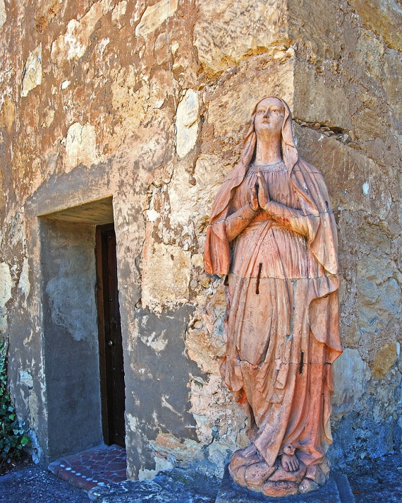 Our Lady-Carmel Mission-Statue of Mary-Virgin Mary-- Fine Art