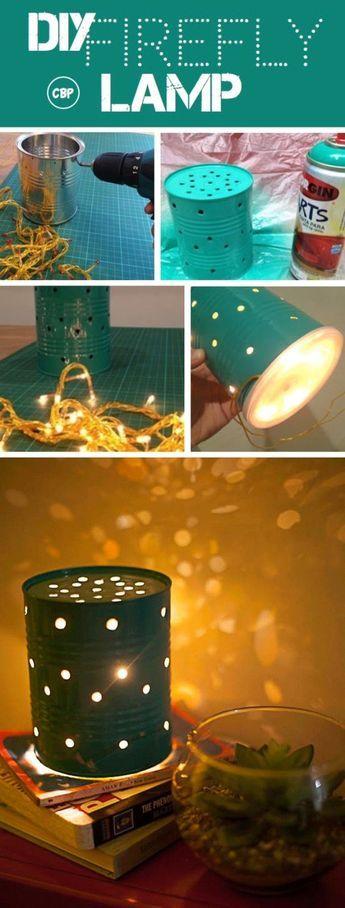 DIY Teen Room Decor Ideas for Girls | DIY Firefly Lamp | Cool Bedroom Decor, Wall Art