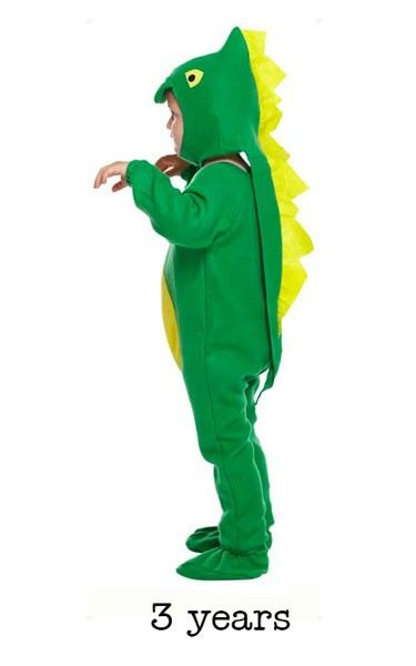 Child Green Dinosaur Fancy Dress Costume - Toddler