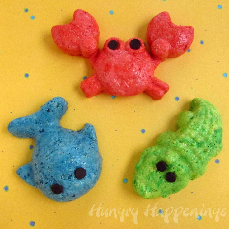 Hungry Happenings:  Crispy Cereal Treat Animals