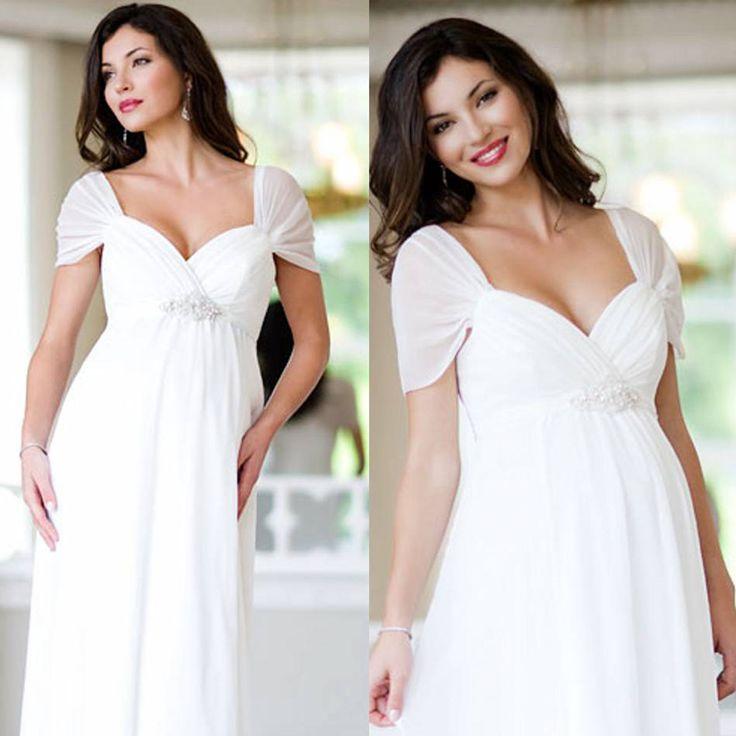 White Dresses for Pregnant Women