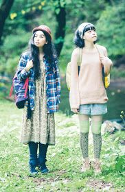 Mori Girl: fashion and lifestyle of girls in the forest. Japanese street fashion and style blog.: Yama Girls - cousins of the mori girls?