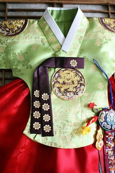 돌잔치한복_연두금박당의(전통당의)_여아한복 : 네이버 블로그