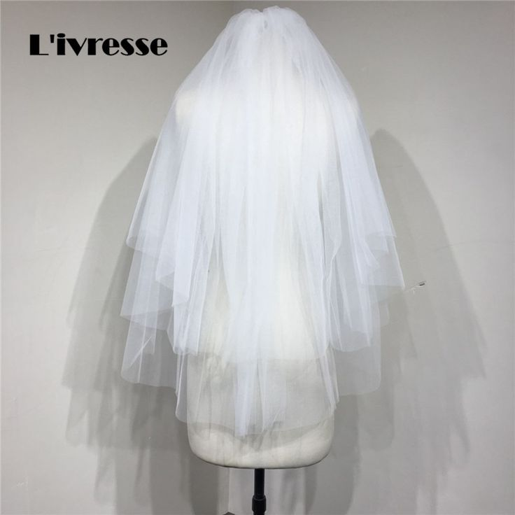 >> Click to Buy << 2 layer short simple bridal veils Metal Comb High quality soft tulle wedding veils for bride voile mariage 2017  #Affiliate