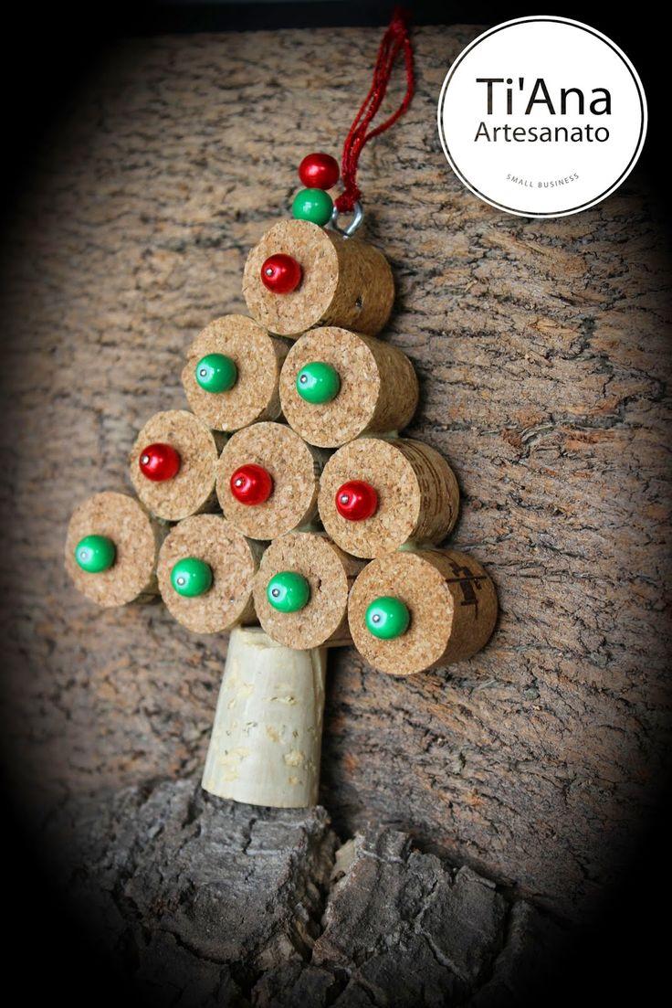 Ti'Ana Artesanato: Pendente Árvore de Natal - Chritmas Tree Decoration