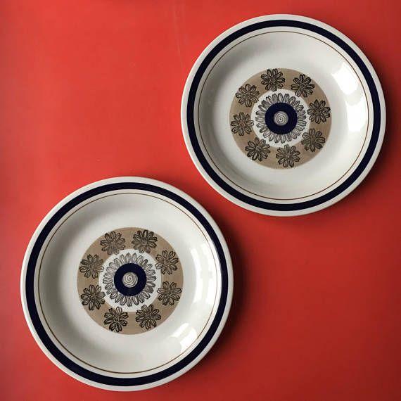 Vintage Gefle Sweden ceramic salad plate named Orion