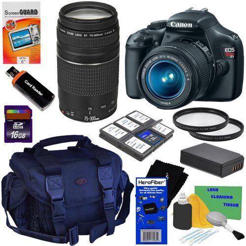 Canon EOS Rebel T3 12.2 MP CMOS Digital SLR Camera with EF-S 18-55mm f/3.5-5.6 IS II & EF 75-300mm f/4-5.6 III... - List price: $709.99 Price: $519.95 Saving: $190.04 (27%)