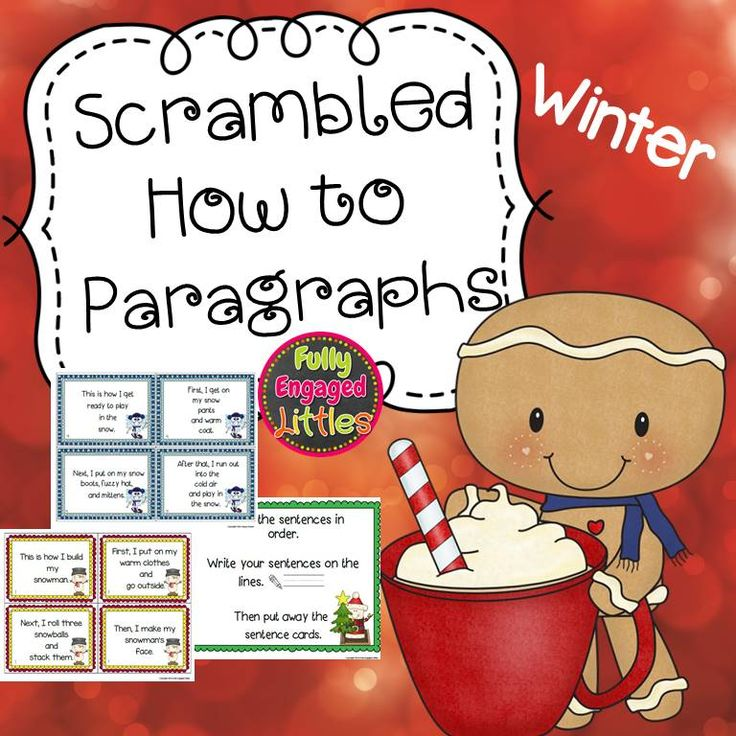 Scrambled How To Paragraphs Winter Transition words, 2nd