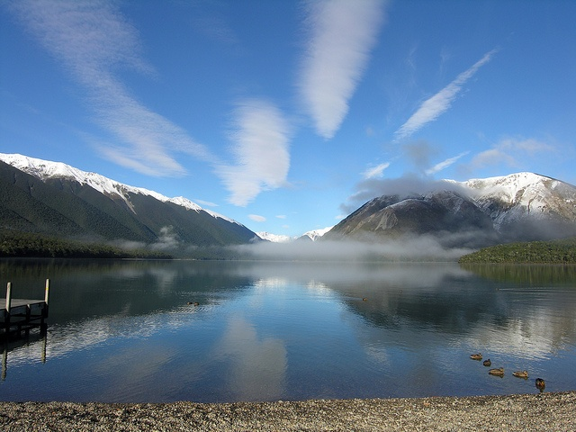 One of the most beautiful places around. Nelsons Lakes New Zealand. Spent a lovely few days camping here with my other half after we got married.