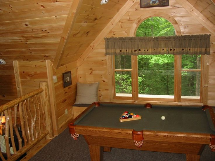 Pool table, additional view from loft
