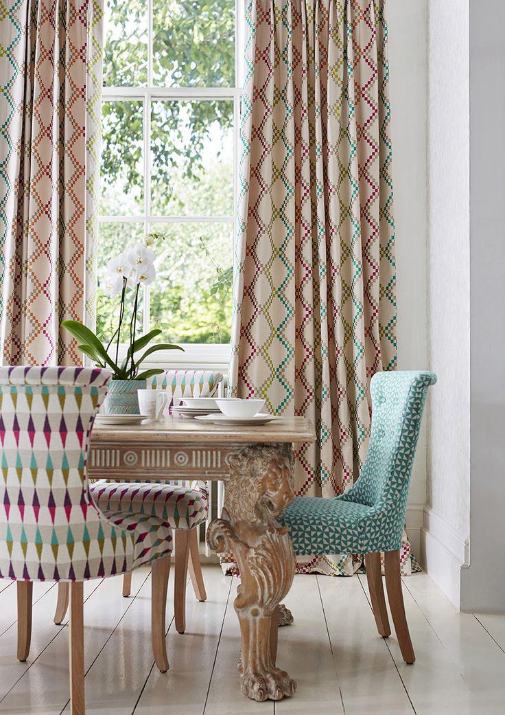 424 best harlequin fabrics wallcoverings images on for Sillas comedor estampadas