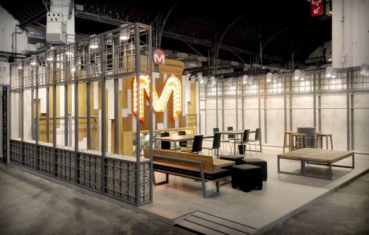 Fotos del stand diseñado y construido para Merkoteks para la feria Denim Première Vision de Barcelona