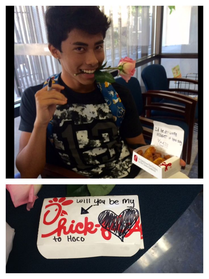 Cute Homecoming Proposal Chick Fil A #chickfila #homecomingproposal #homecomingdance#homecoming2015