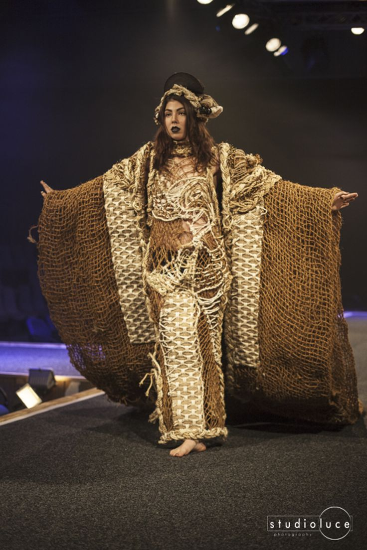 Runway Fashion Photography Photographer: Studio Luce Location: Fieldays Wearable Arts Annelise Theron - Rope - Avant Garde - First Place 2014 Wearable Art Awards