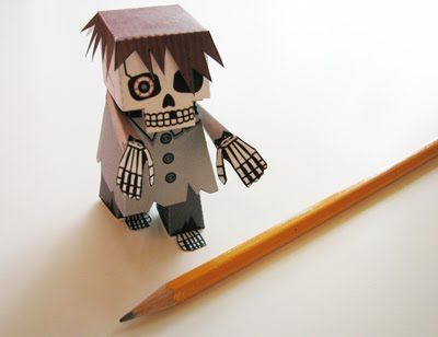 Paper zombie decoration/toy/figurine thing. ADORABLE!