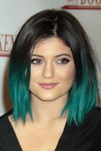 Steal Her Style – Kylie Jenner | Mint green mermaid like bob #kylie #jenner #cliphair #hair #style
