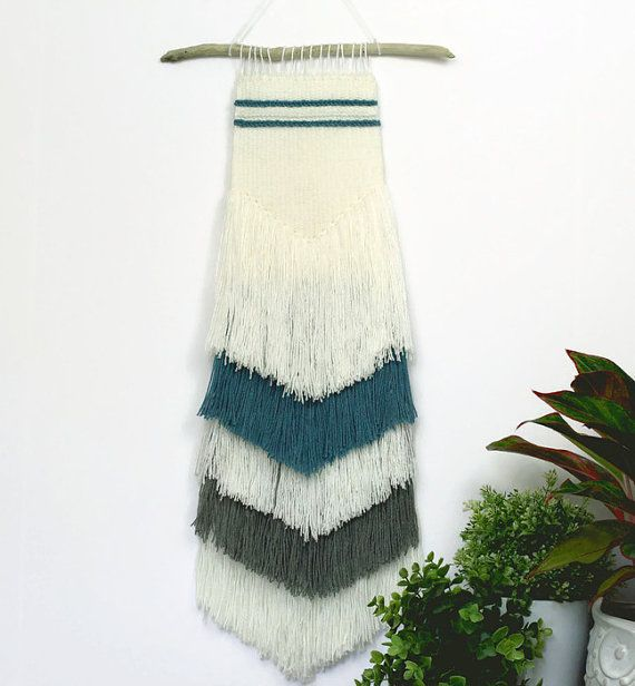 Handwoven Wall Hanging Woven Wall Hanging by JCirianoDesigns
