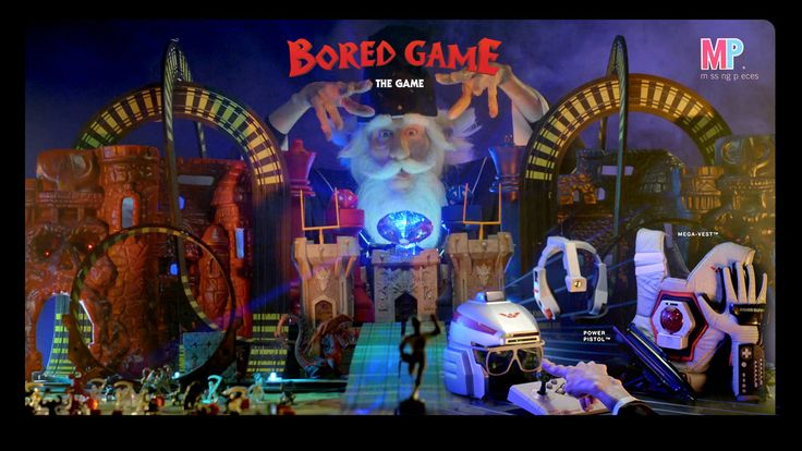 BORED GAME™. Bored Game™ - the greatest board game NEVER made.  Starring The Technodrome, Hot Shots Electronic Basketball, Boglins, a GoPro ...