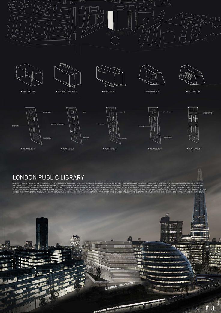 London Public Library Competition - José Ribeiro, David Agostinho -  Faculdade de Arquitectura de Lisboa