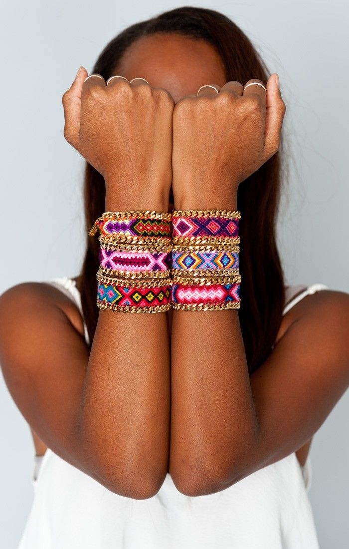 Kim and Zozi ~ Pink Chain 100 Bracelet