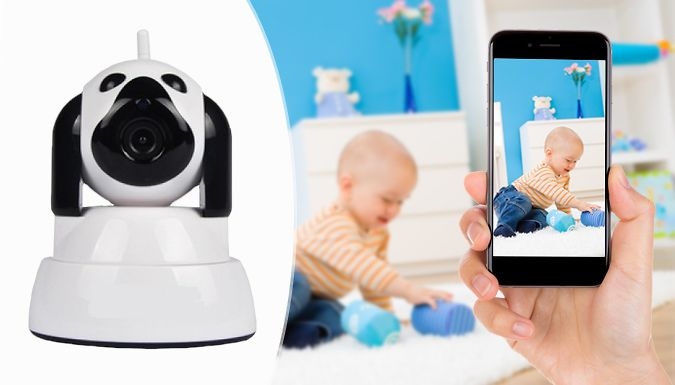 Buy Wireless Home Security Camera System 355 degree for just £29.99 Monitor your property with Wireless Home Security Camera System      Perfect surveillance system for kids, pets and personal businesses      Camera size: 95mm (L) x 100mm (W) x 130mm (H)      Features 3.6mm megapixel camera with 720pHD video resolution      Design rotates up to 355° with 100° vertical rotation      ...