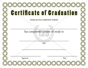 11 best graduation certificate images on pinterest certificate best graduation certificates template for outgoing students yadclub Image collections