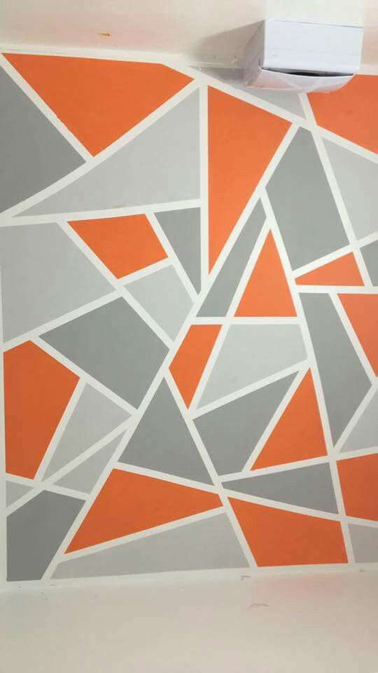Best 25 geometric wall ideas on pinterest geometric wall paint geometric wall art and wall - Design patterns wall painting ...