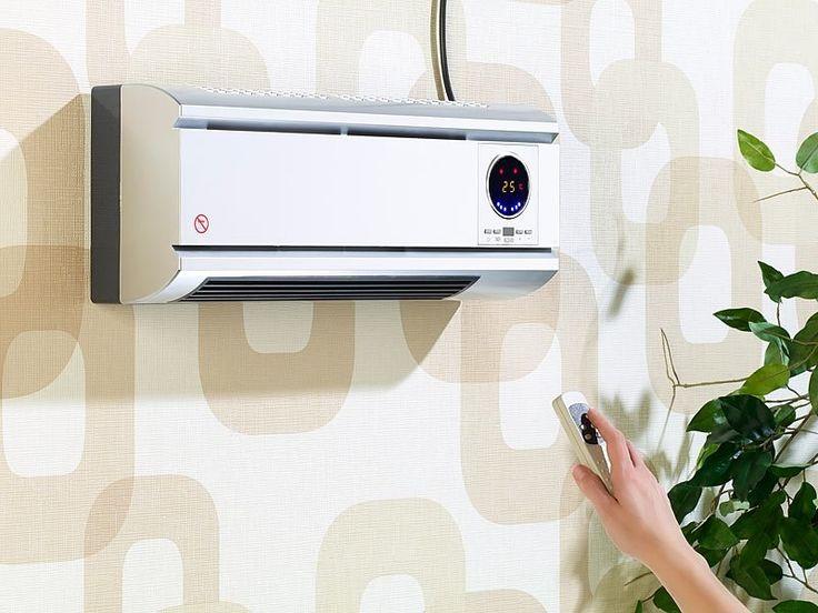 Ce radiateur discret de 2000W peut se fixer à un mur pour gagner de la place, et vous permet de faire des économies grâce à ses 2 puissances et son minuteur.