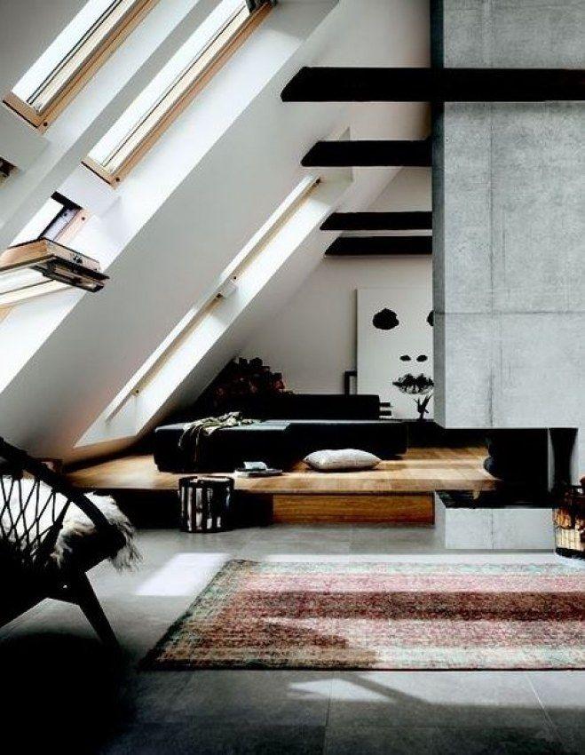 Dachschrägen Gestalten: Mit Diesen 6 Tipps Richtet Ihr Euer Schlafzimmer  Perfekt Ein! Modern Loft