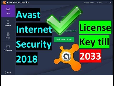 licence avast internet security 2018