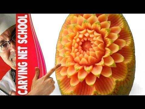 Art in papaya, arte com mamão, papaya carving, escultura em mamão