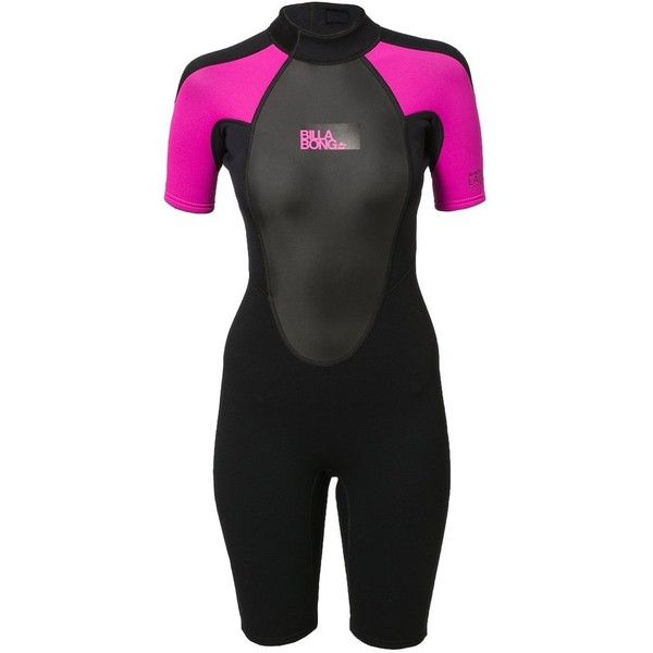 Billabong LAUNCH Wetsuit (385 SEK) ❤ liked on Polyvore featuring pink  94b107fcd