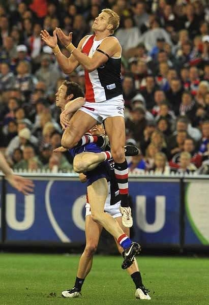 Catch that footie, Nick!!!