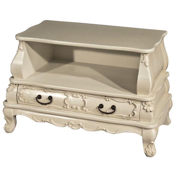Home Tv Stand Wooden Shelves Furniture Drawer Pine Media Storage Unit Table Mdf