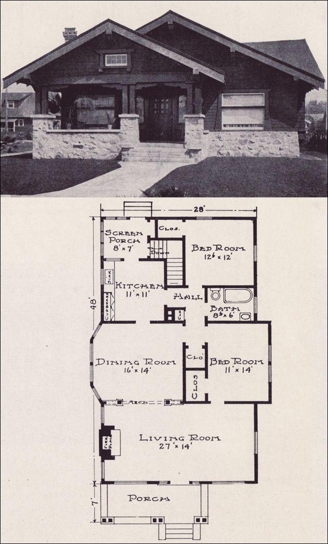 Bungalow Craftsman plan