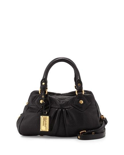 1222102238d1 Marc Jacobs Classic Q Baby Groovee Black Leather Satchel - Tradesy   marcjacobshandbags